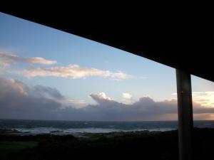 Aussicht aus dem Motelzimmer